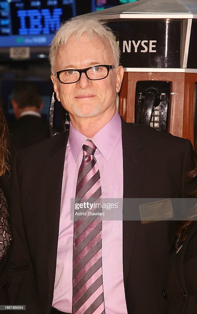 Actor Tony Geary ABC's soap opera General Hospital rings the opening bell at the New York Stock Exchange on April 1, 2013 in New York City.
