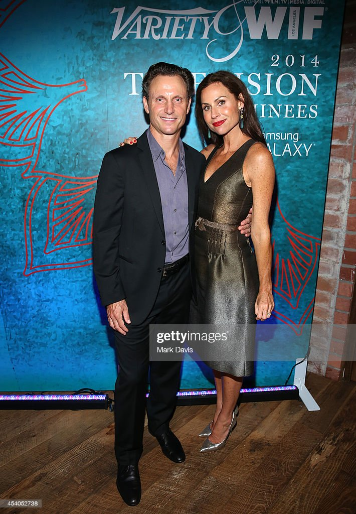 Actor Tony Goldwyn and actress Minnie Driver attend Variety and Women in Film Emmy Nominee Celebration powered by Samsung Galaxy on August 23 2014 in...