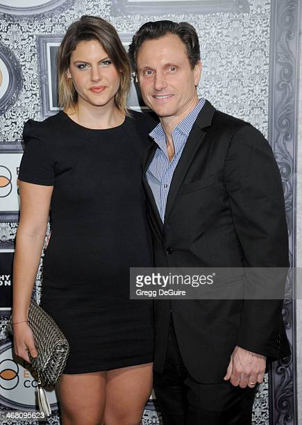 Actor Tony Goldwyn and Anna Goldwyn arrive at the Family Equality Council's Annual Los Angeles Awards Dinner at The Globe Theatre on February 8 2014...