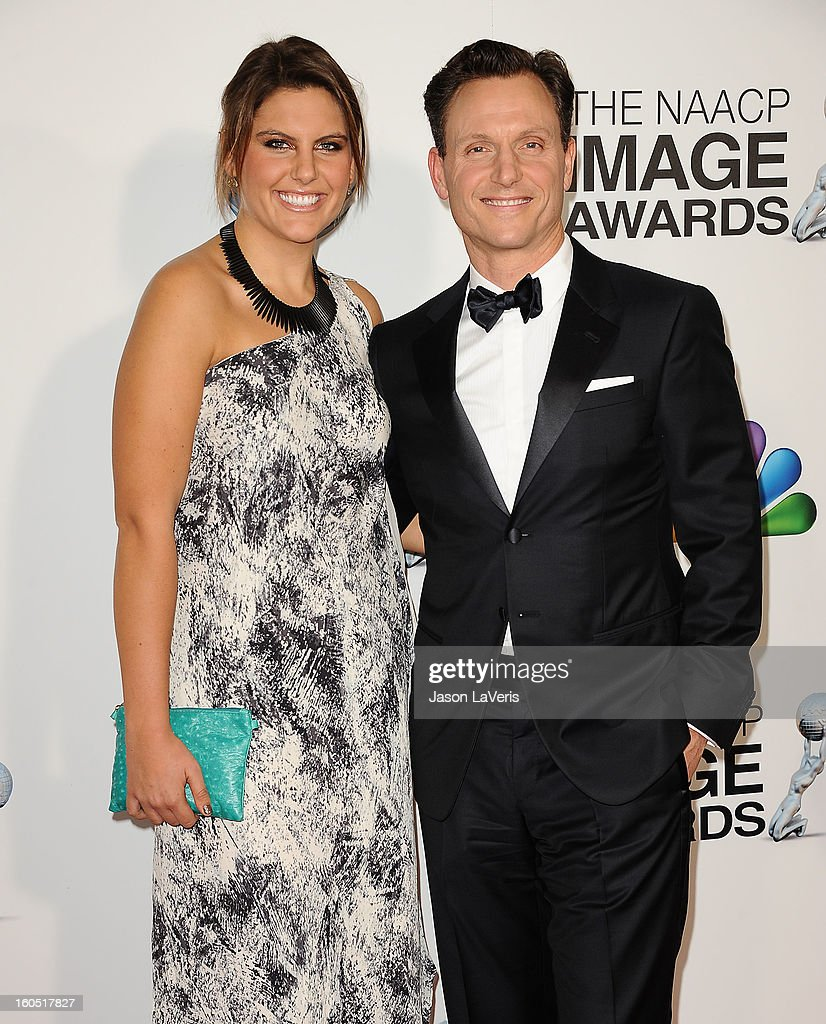 Actor Tony Goldwyn (R) and Anna Musky-Goldwyn attend the 44th NAACP Image Awards at The Shrine Auditorium on February 1, 2013 in Los Angeles, California.