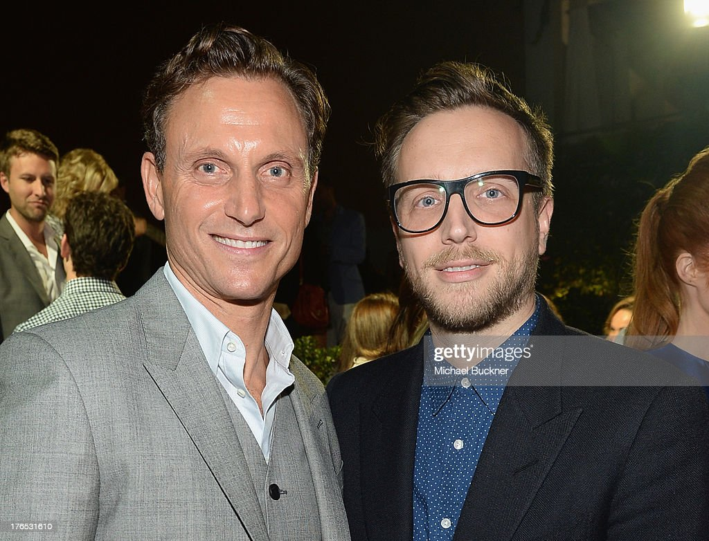 Actor Tony Goldwyn and Editor of InStyle Magazine Ariel Foxman attend the InStyle Summer Soiree held Poolside at the Mondrian hotel on August 14 2013...