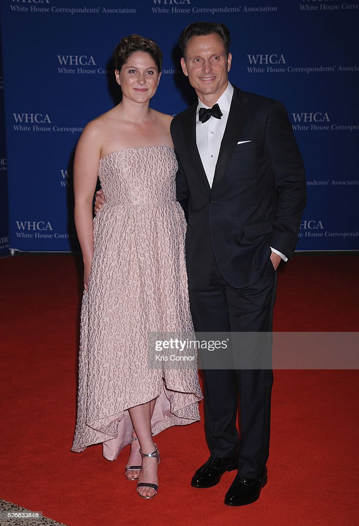 Actor <a gi-track='captionPersonalityLinkClicked' href=/galleries/search?phrase=Tony+Goldwyn&family=editorial&specificpeople=234897 ng-click='$event.stopPropagation()'>Tony Goldwyn</a> (R) and guest attend the 102nd White House Correspondents' Association Dinner on April 30, 2016 in Washington, DC.