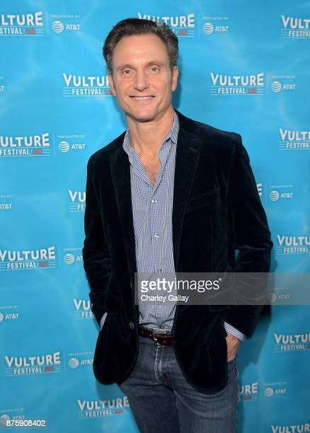 Actor Tony Goldwyn attends the 'Scandal The Final Season' panel during Vulture Festival LA Presented by ATT at Hollywood Roosevelt Hotel on November...