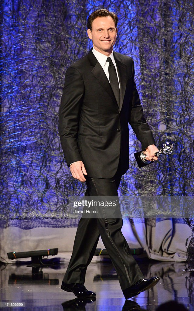 Actor Tony Goldwyn speaks onstage during the 16th Costume Designers Guild Awards with presenting sponsor Lacoste at The Beverly Hilton Hotel on February 22, 2014 in Beverly Hills, California.