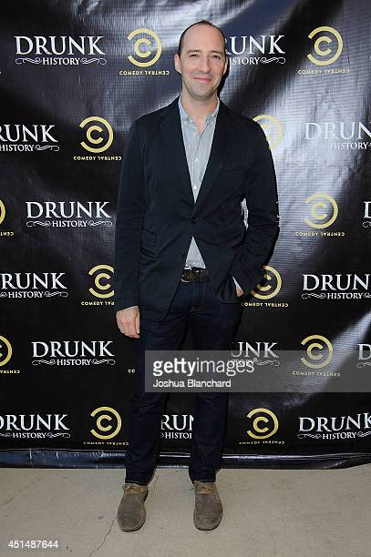 Actor Tony Hale arrives at Comedy Central's 'Drunk History' season 2 premiere party at the Alex Theatre on June 29 2014 in Glendale California