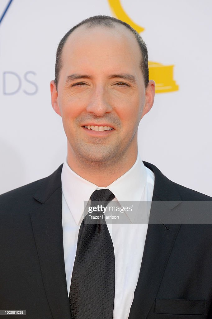Actor Tony Hale arrives at the 64th Annual Primetime Emmy Awards at Nokia Theatre L.A. Live on September 23, 2012 in Los Angeles, California.