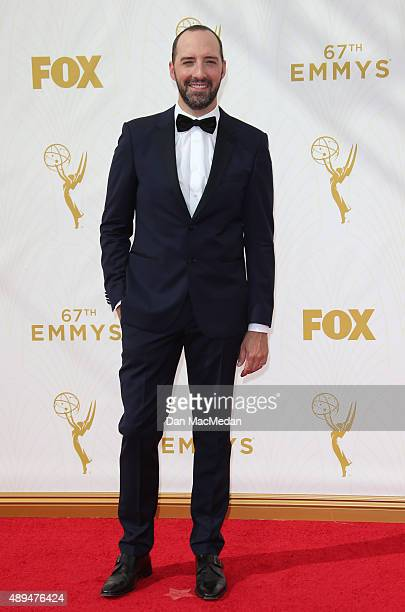 Actor Tony Hale arrives at the 67th Annual Primetime Emmy Awards at the Microsoft Theater on September 20 2015 in Los Angeles California
