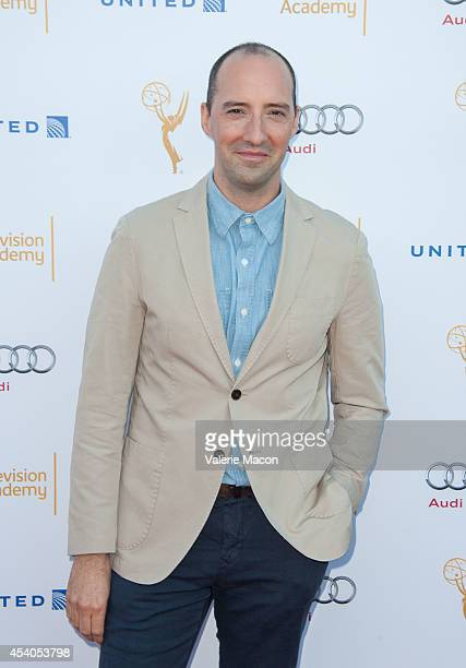 Actor Tony Hale arrives at the Television Academy's 66th Annual Emmy Awards Performers Nominee Reception at Spectra by Wolfgang Puck at the Pacific...