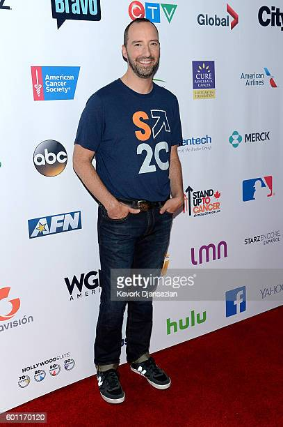 Actor Tony Hale attends Hollywood Unites for the 5th Biennial Stand Up To Cancer A Program of The Entertainment Industry Foundation at Walt Disney...