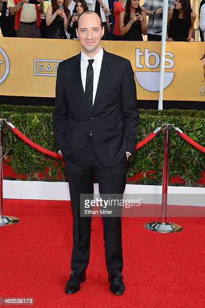 Actor Tony Hale attends the 20th Annual Screen Actors Guild Awards at The Shrine Auditorium on January 18 2014 in Los Angeles California