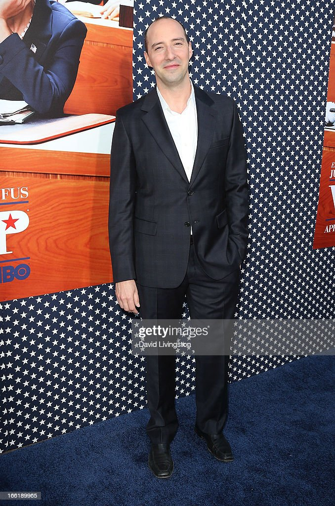 Actor <a gi-track='captionPersonalityLinkClicked' href=/galleries/search?phrase=Tony+Hale&family=editorial&specificpeople=745565 ng-click='$event.stopPropagation()'>Tony Hale</a> attends the premiere of HBO's 'VEEP' Season 2 at Paramount Studios on April 9, 2013 in Hollywood, California.