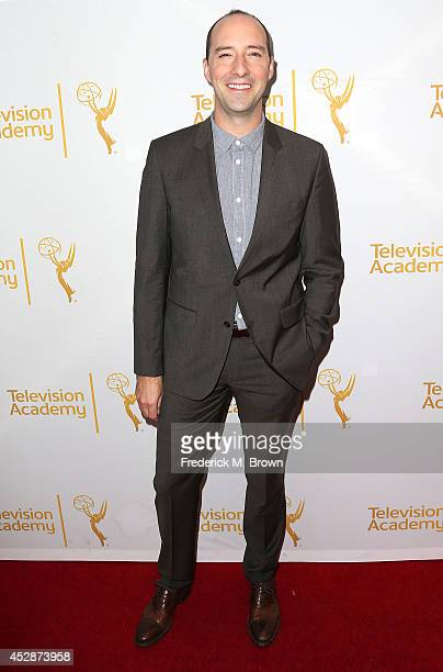 Actor Tony Hale attends the Television Academy's Performers Peer Group Celebrates the 66th Emmy Awards at the Montage Beverly Hills Hotel on July 28...