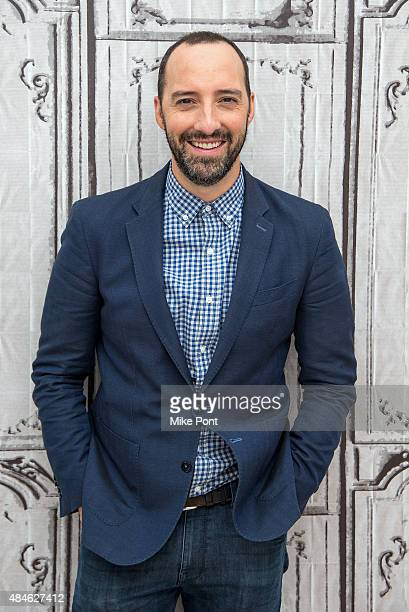 Actor Tony Hale discusses his new film 'American Ultra' at AOL Studios In New York on August 20 2015 in New York City