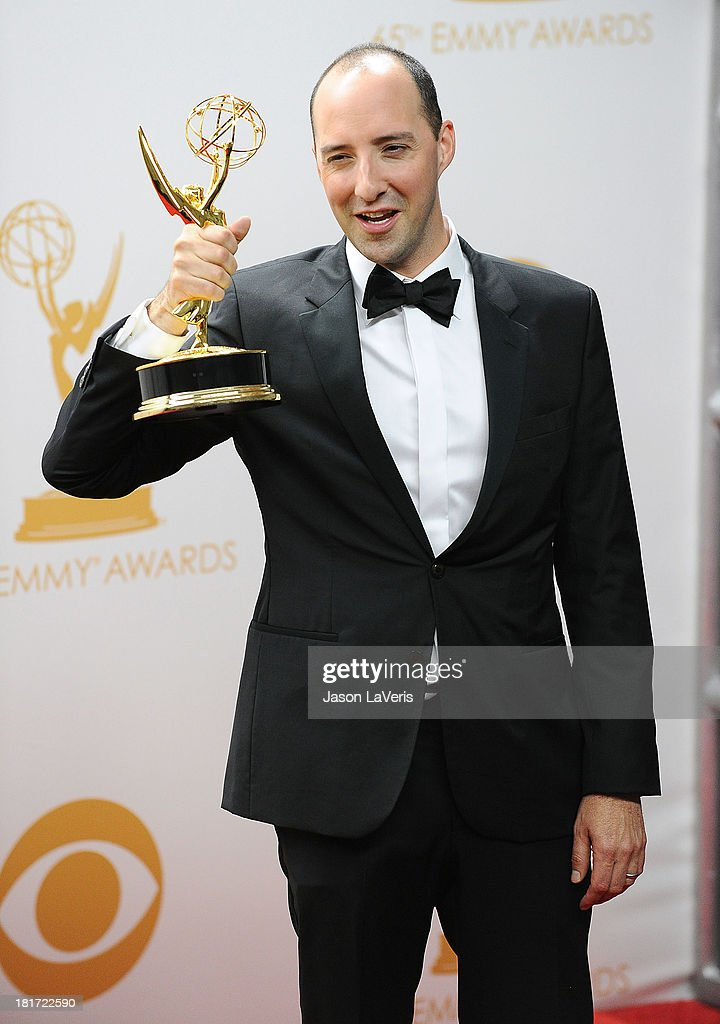 Actor Tony Hale poses in the press room at the 65th Actor Tony Hale annual Primetime Emmy Awards at Nokia Theatre L.A. Live on September 22, 2013 in Los Angeles, California.