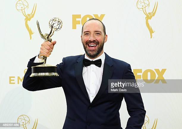 Actor Tony Hale winner of the award for Outstanding Supporting Actor in a Comedy Series for 'Veep' poses in the press room at the 67th Annual...