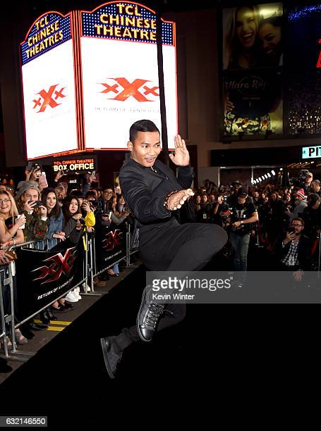 Actor Tony Jaa arrives at the premiere of Paramount Pictures' 'xXx Return of Xander Cage' at the Chinese Theatre on January 19 2017 in Los Angeles...