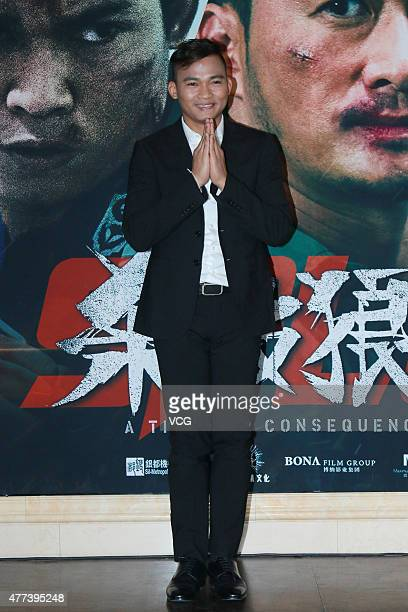 Actor Tony Jaa attends 'A Time for Consequences' premiere on June 16 2015 in Beijing China
