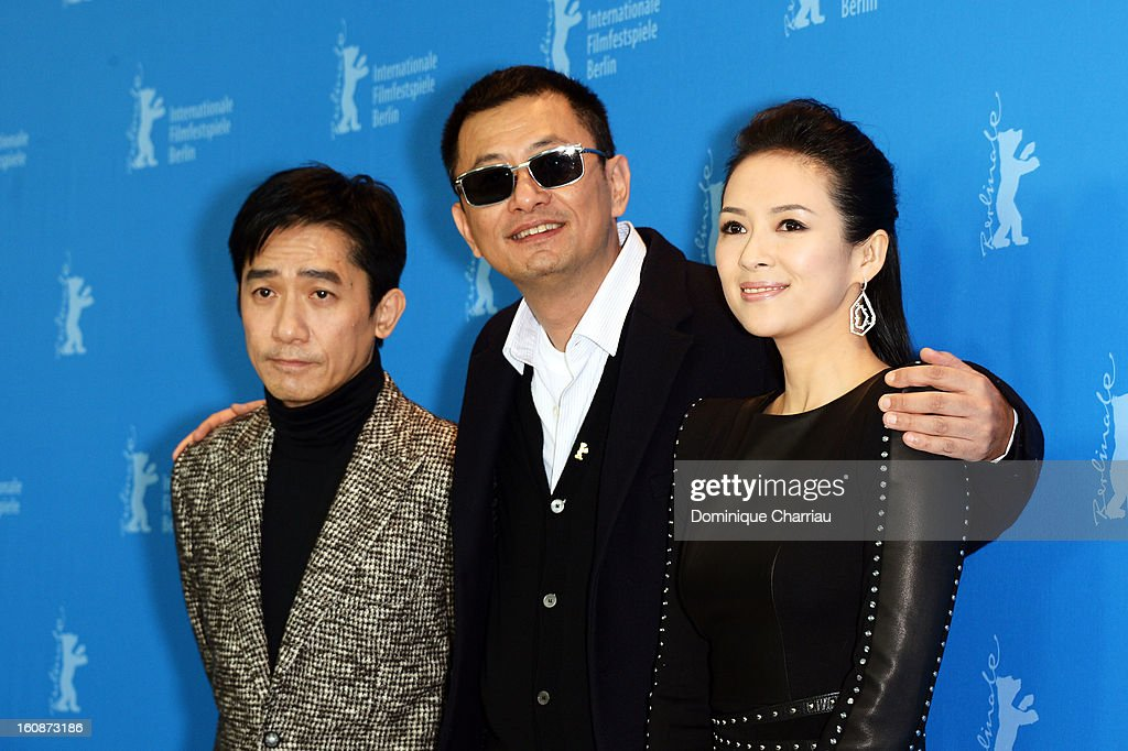Actor Tony Leung Chiu Wai, director Wong Kar Wai and actress <a gi-track='captionPersonalityLinkClicked' href=/galleries/search?phrase=Ziyi+Zhang&family=editorial&specificpeople=172013 ng-click='$event.stopPropagation()'>Ziyi Zhang</a> attend 'The Grandmaster' Photocall during the 63rd Berlinale International Film Festival at The Grand Hyatt Hotel on February 7, 2013 in Berlin, Germany.