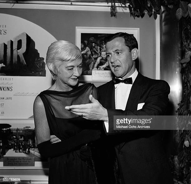 Actor Tony Randall with wife Florence Gibbs attend the premiere of 'Ben Hur' in Los AngelesCA
