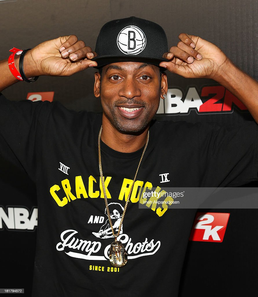 Actor Tony Rock attends the premiere party for the NBA2K14 video game at Greystone Mansion on September 24, 2013 in Beverly Hills, California.