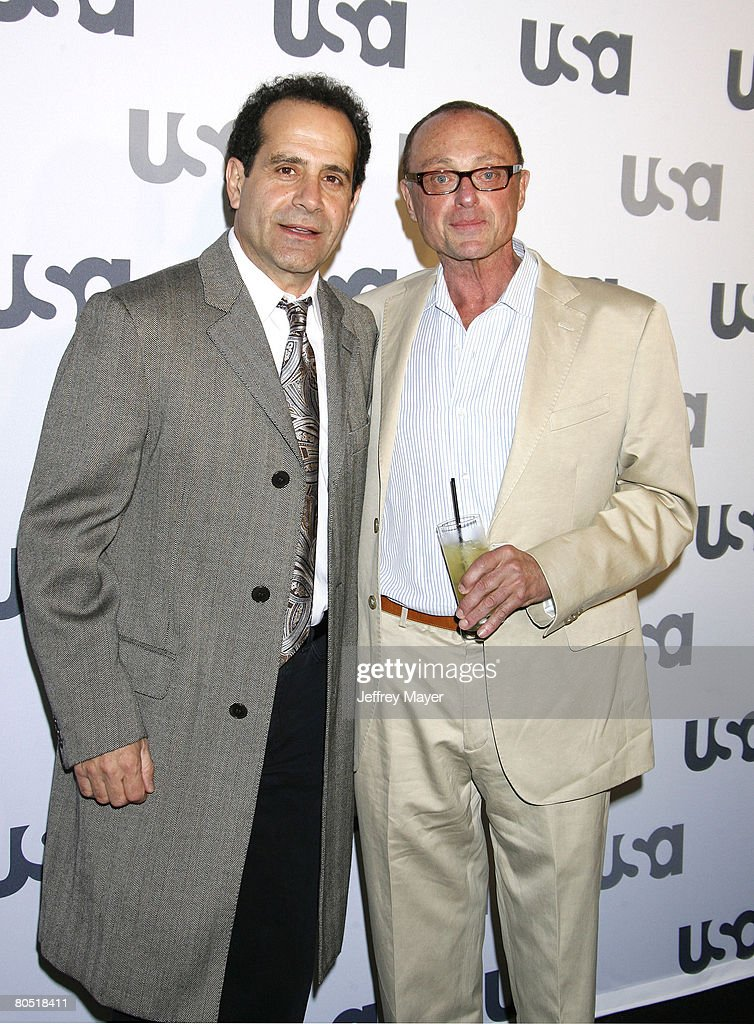 Actor Tony Shalhoub and Actor Stanley Kamel arrive at 'Characters Welcome' USA NetwAork celebrates it's Lineup of Stars on April 3 2008 at CRAFT in...