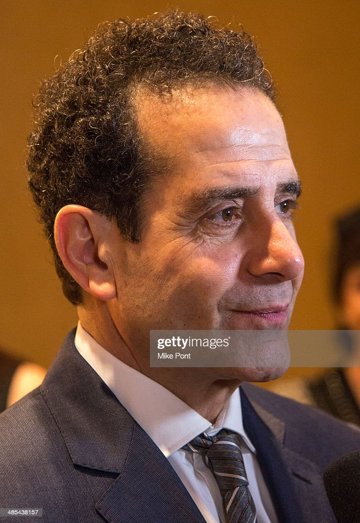 Actor <a gi-track='captionPersonalityLinkClicked' href=/galleries/search?phrase=Tony+Shalhoub&family=editorial&specificpeople=203214 ng-click='$event.stopPropagation()'>Tony Shalhoub</a> attends the opening night party for 'Act One' at The Plaza Hotel on April 17, 2014 in New York City.