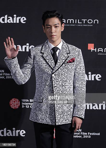 Actor TOP of Bigbang arrives for the marie claire Asia Star Awards during the 18th Busan International Film Festival on October 5 2013 in Busan South...