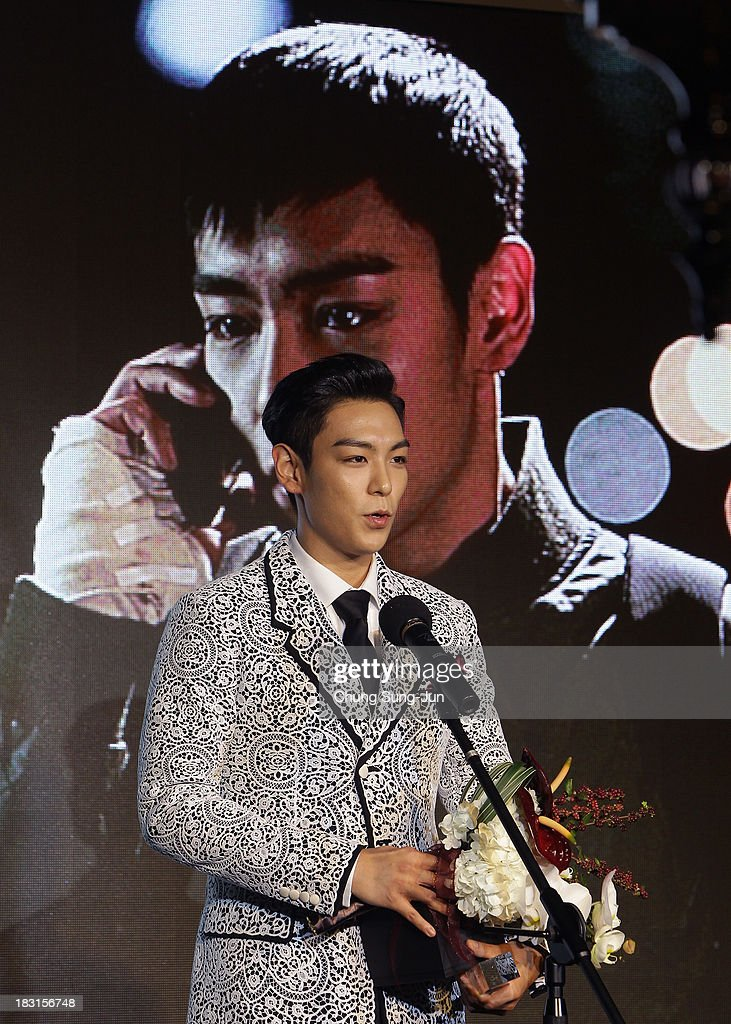 Actor T.O.P of Bigbang award a Rookie prize at Asia Star Awards during the 18th Busan International Film Festival on October 5, 2013 in Busan, South Korea.