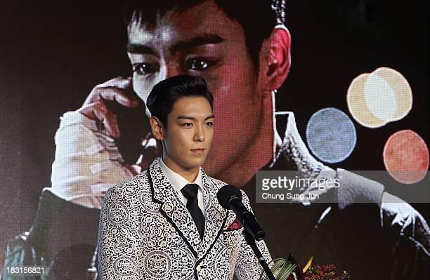 Actor TOP of Bigbang award a Rookie prize at Asia Star Awards during the 18th Busan International Film Festival on October 5 2013 in Busan South Korea