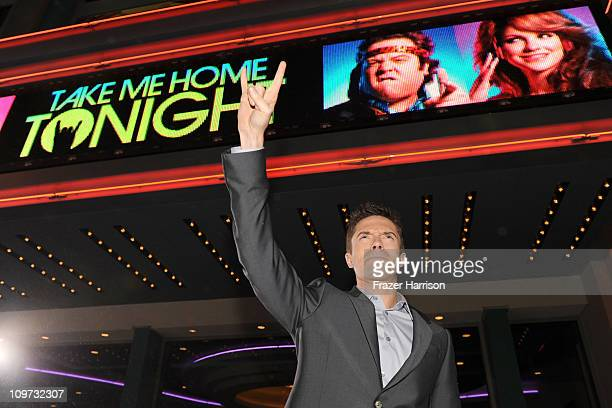 Actor Topher Grace arrives at Relativity Media presents the premiere of 'Take Me Home Tonight' held at Regal Cinemas LA Live Stadium 14 on March 2...