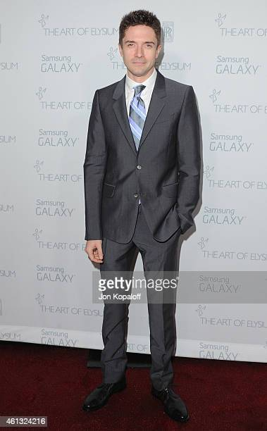 Actor Topher Grace arrives at The Art Of Elysium 8th Annual Heaven Gala at Hangar 8 on January 10 2015 in Santa Monica California