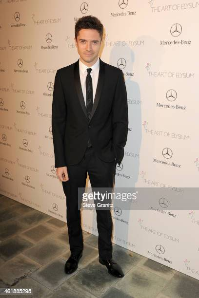 Actor Topher Grace arrives at The Art of Elysium's 7th Annual HEAVEN Gala presented by MercedesBenz at Skirball Cultural Center on January 11 2014 in...