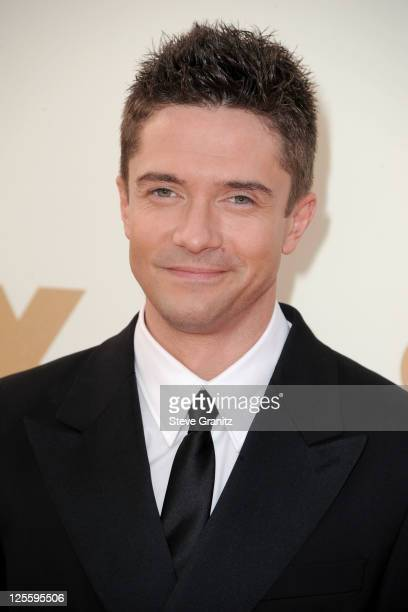 Actor Topher Grace arrives to the 63rd Primetime Emmy Awards at the Nokia Theatre LA Live on September 18 2011 in Los Angeles United States