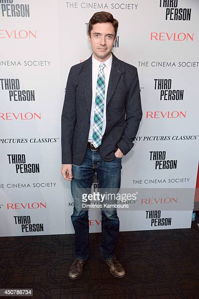 Actor Topher Grace attends Sony Pictures Classics' 'Third Person' screening hosted by The Cinema Society and Revlon at Landmark Sunshine Cinema on...