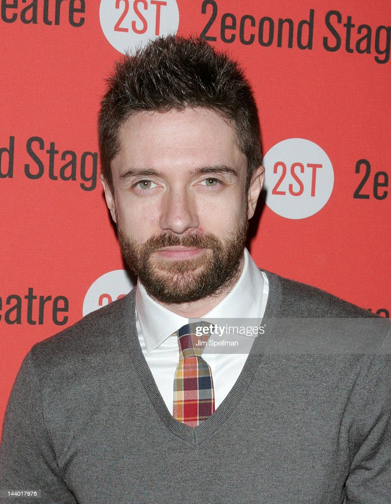 Actor <a gi-track='captionPersonalityLinkClicked' href=/galleries/search?phrase=Topher+Grace&family=editorial&specificpeople=203130 ng-click='$event.stopPropagation()'>Topher Grace</a> attends the 'Lonely, I'm Not' Off-Broadway opening night after party at the HB Burger on May 7, 2012 in New York City.