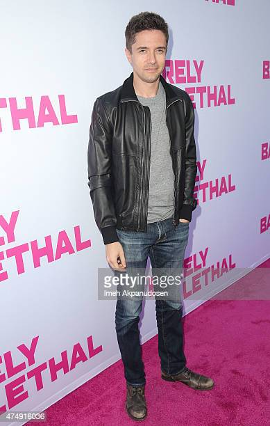 Actor Topher Grace attends the premiere of DirecTV's 'Barely Lethal' at ArcLight Hollywood on May 27 2015 in Hollywood California