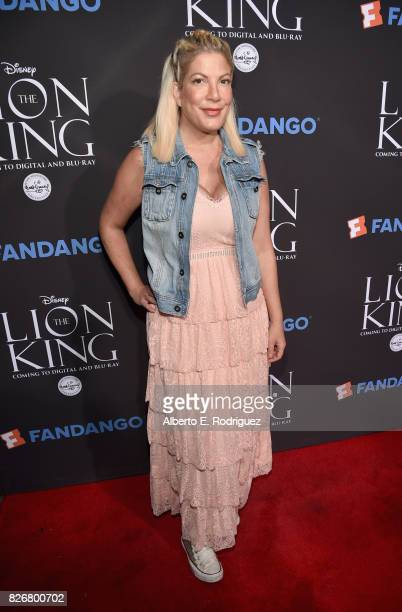 Actor Tori Spelling at The Lion King SingAlong at The Greek Theatre in Los Angeles in celebration of the inhome release hosted by Walt Disney Studios...