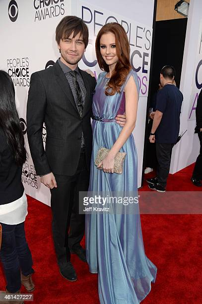 Actor Torrance Coombs and Miss USA 2011 Alyssa Campanella attend The 40th Annual People's Choice Awards at Nokia Theatre LA Live on January 8 2014 in...