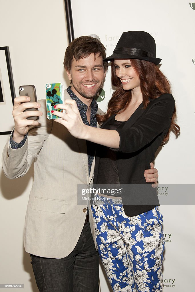 Actor Torrance Coombs with Miss USA 2011 Alyssa Campanella attend 'Fun For Animals' Celebrity Poker Tournament and Cocktail Party at Petersen Automotive Museum on March 16, 2013 in Los Angeles, California.