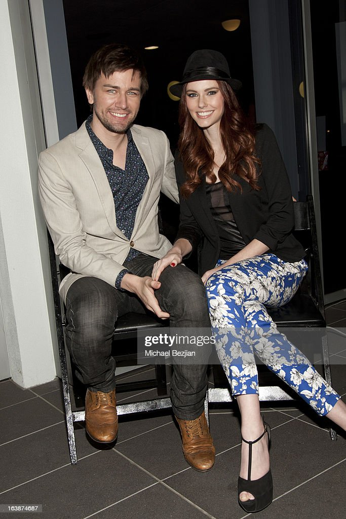 Actor Torrance Coombs with Miss USA 2011 <a gi-track='captionPersonalityLinkClicked' href=/galleries/search?phrase=Alyssa+Campanella&family=editorial&specificpeople=7480512 ng-click='$event.stopPropagation()'>Alyssa Campanella</a> attend 'Fun For Animals' Celebrity Poker Tournament and Cocktail Party at Petersen Automotive Museum on March 16, 2013 in Los Angeles, California.