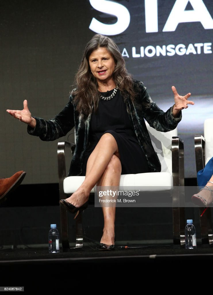 Actor Tracey Ullman of 'Howards End' speaks onstage during the Starz portion of the 2017 Summer Television Critics Association Press Tour at The Beverly Hilton Hotel on July 28, 2017 in Beverly Hills, California.