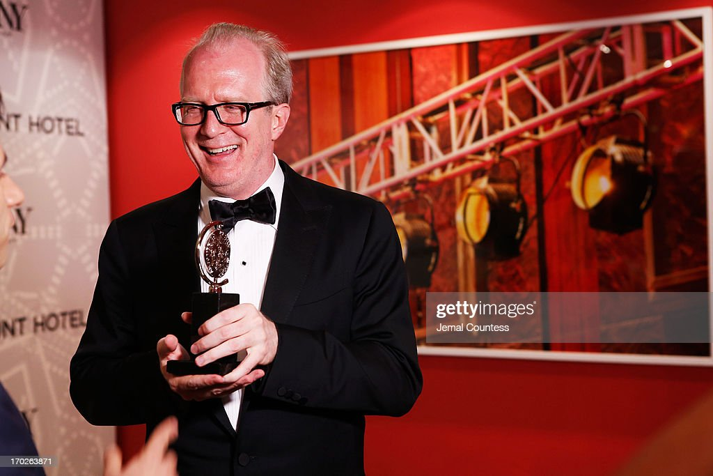 Actor Tracy Letts, winner of Best Performance by a Leading Actor in a Play for his role in 'Who's Afraid of Virginia Woolf?' attends The 67th Annual Tony Awards Paramount Hotel Winners' Room at Radio City Music Hall on June 9, 2013 in New York City.