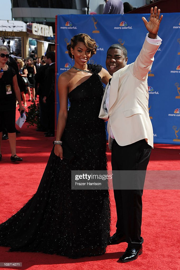 Actor <a gi-track='captionPersonalityLinkClicked' href=/galleries/search?phrase=Tracy+Morgan&family=editorial&specificpeople=182428 ng-click='$event.stopPropagation()'>Tracy Morgan</a> (R) and guest arrive at the 62nd Annual Primetime Emmy Awards held at the Nokia Theatre L.A. Live on August 29, 2010 in Los Angeles, California.