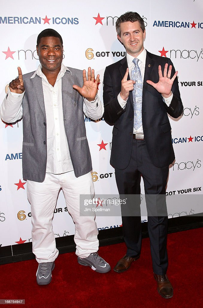 Actor <a gi-track='captionPersonalityLinkClicked' href=/galleries/search?phrase=Tracy+Morgan&family=editorial&specificpeople=182428 ng-click='$event.stopPropagation()'>Tracy Morgan</a> and managing director of the Got Your 6 campaign Chris Marvin attend Macy's 'American Icons' Campaign Launch at Gotham Hall on May 14, 2013 in New York City.