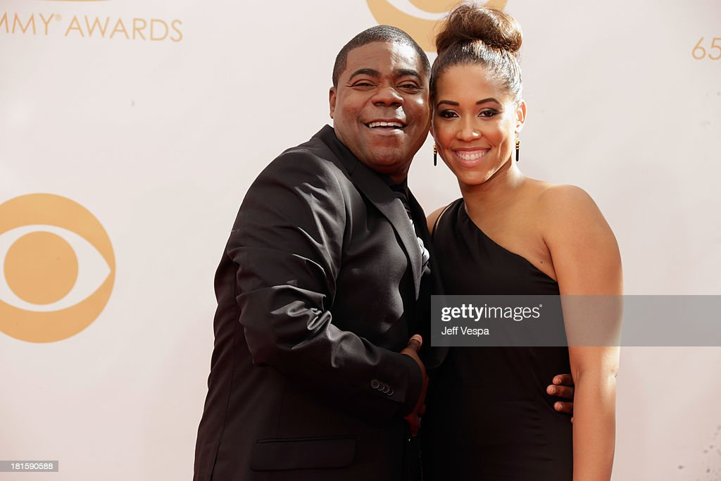 Actor Tracy Morgan (L) and Sabina Morgan arrive at the 65th Annual Primetime Emmy Awards held at Nokia Theatre L.A. Live on September 22, 2013 in Los Angeles, California.
