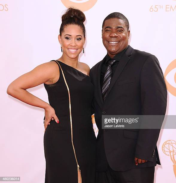 Actor Tracy Morgan and Megan Wollover attend the 65th annual Primetime Emmy Awards at Nokia Theatre LA Live on September 22 2013 in Los Angeles...