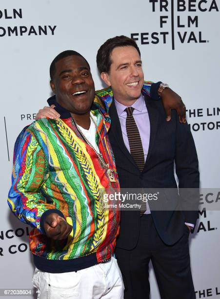 Actor Tracy Morgan and producer Ed Helms attend 'The Clapper' Premiere during the 2017 Tribeca Film Festival at SVA Theatre on April 23 2017 in New...