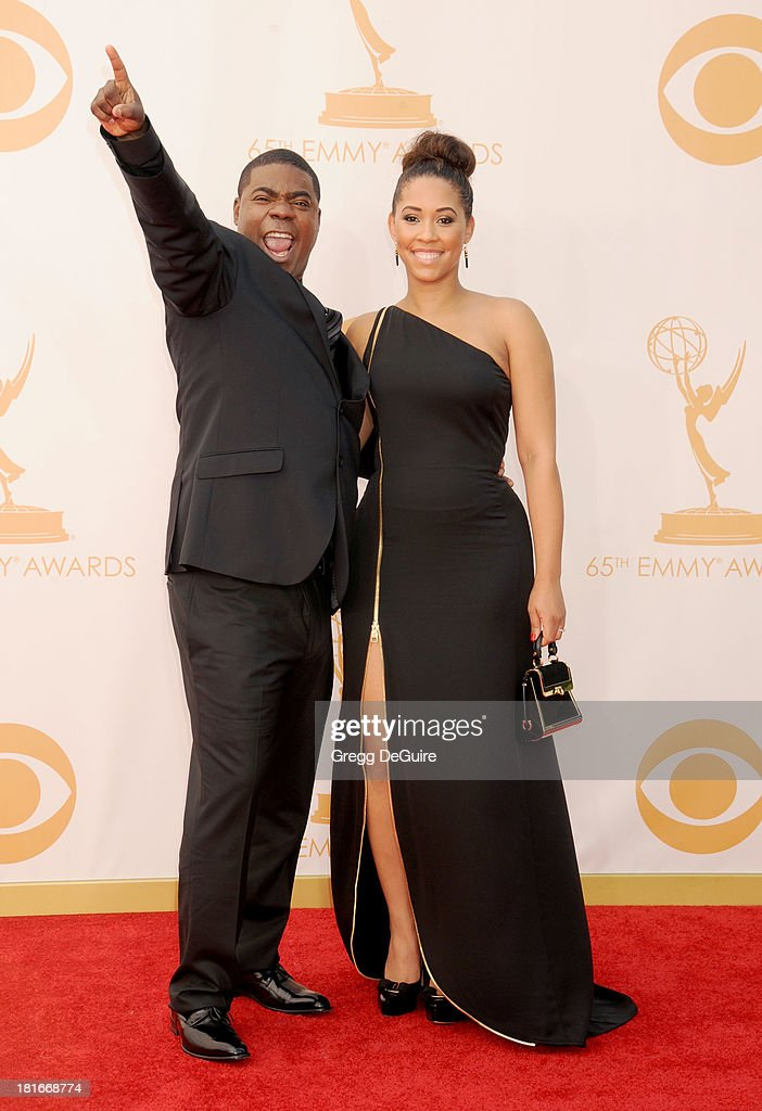 Actor Tracy Morgan and Sabina Morgan arrive at the 65th Annual Primetime Emmy Awards at Nokia Theatre L.A. Live on September 22, 2013 in Los Angeles, California.