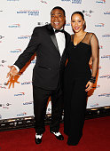 Actor Tracy Morgan and wife Megan Wollover attend the 18th Annual Mark Twain Prize for Humor at The John F Kennedy Center for Performing Arts on...