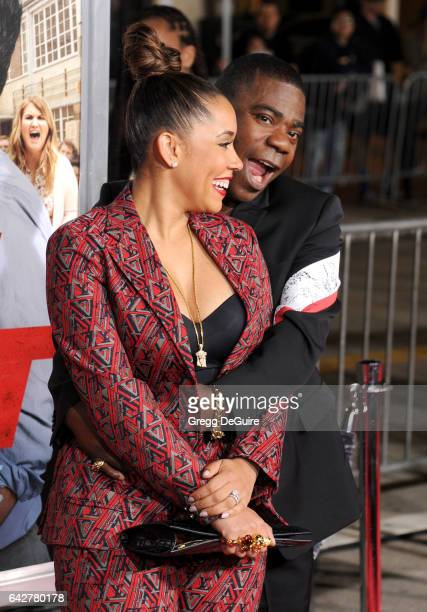 Actor Tracy Morgan and wife Megan Wollover arrive at the premiere of Warner Bros Pictures' 'Fist Fight' at Regency Village Theatre on February 13...